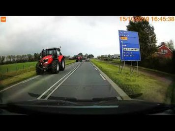 Boerenprotest Ternaard onderweg naar RIVM Bilthoven
