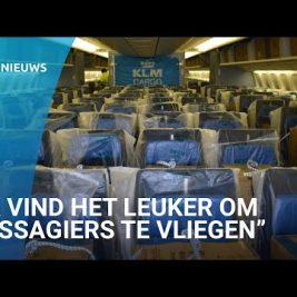 KLM-passagiers maken plaats voor honderden dozen vol mondkapjes