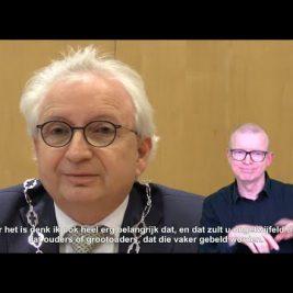 Videoboodschap van burgemeester Willem Gradisen aan de inwoners van Mook en Middelaar.
