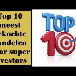 Top 10 meest gekochte aandelen door superinvestors