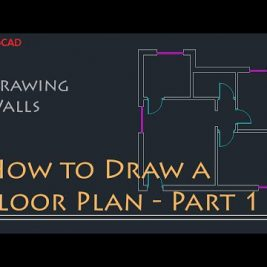 AutoCAD 2D Basics – Tutorial to draw a simple floor plan (Fast and efective!) PART 1